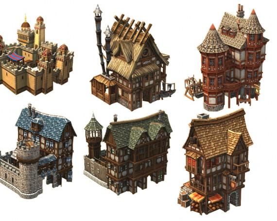 Low Poly Häuser für Siedler 6
