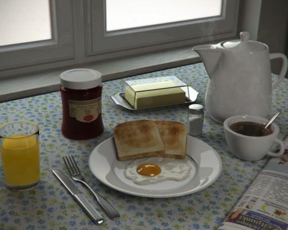 3D Frühstück